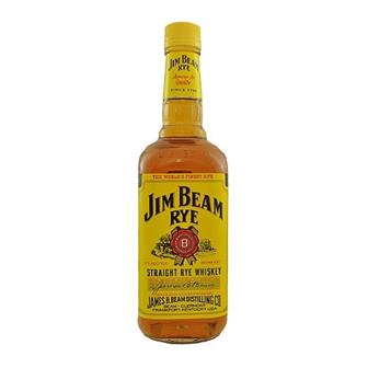 Jim Beam Straight Rye Whiskey 40% 75cl thumbnail