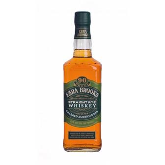 Ezra Brooks Staight Rye Whiskey 45% 70cl thumbnail