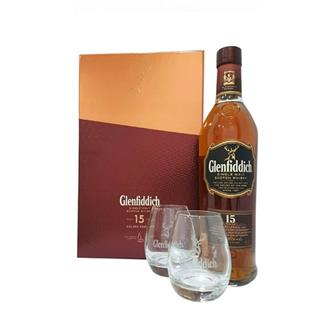 Glenfiddich 15 years old Gift Pack 40% 70cl thumbnail