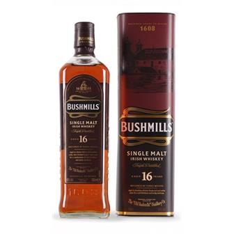 Bushmills Single Malt Irish Whiskey 16 Year Old 40% 70cl thumbnail