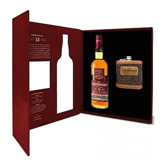 Glendronach 12 years old Original Hip Flask Gift Pack thumbnail