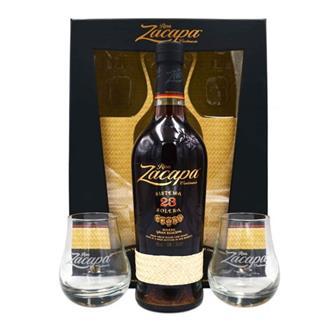 Ron Zacapa Centenario Solera 23 Gift Pack 70cl + 2 Glasses thumbnail