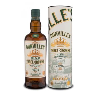 Dunvilles Peated Three Crowns Blended Irish Whiskey 70cl thumbnail