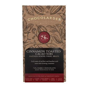 Chocolarder Cinnamon Toasted Nibbed 74% 70g thumbnail