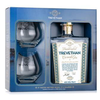 Trevethan Cornish Gin 70cl Gift Set - 2 Glasses thumbnail