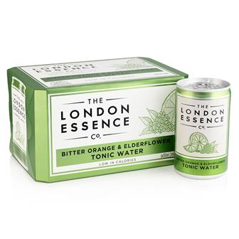 London Essence Bitter Orange & Elderflower Tonic Water Cans 6 x 150ml thumbnail