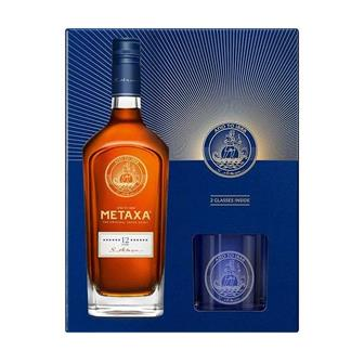Metaxa 12 Star Brandy Glass Pack 70cl thumbnail
