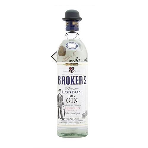 Brokers London Dry Gin 47% vol 70cl Image 1
