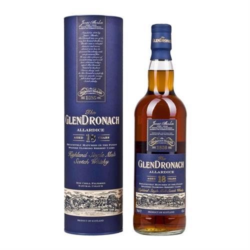 Glendronach 18 Year Old Allardice Single Malt Whisky 70cl Image 1