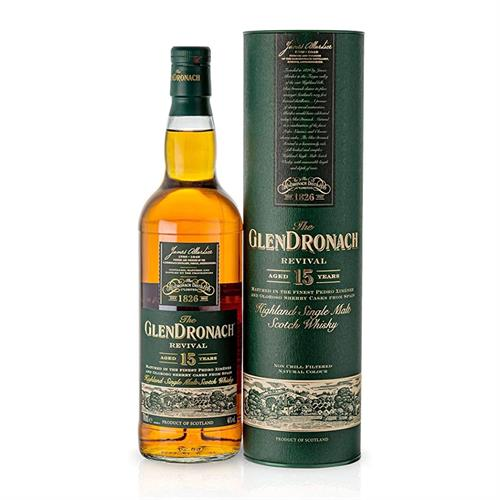 Glendronach 15 Year Old Revival Single Malt Whisky 70cl Image 1