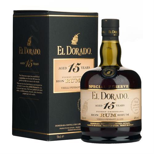 El Dorado 15 Year Old Rum 43% 70cl Image 1