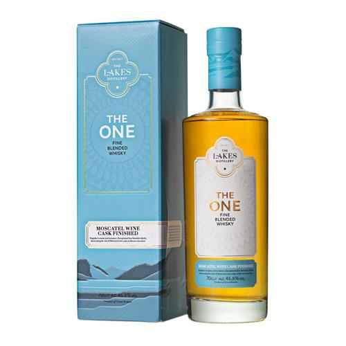 The Lakes Distillery The One Moscatel Wine Cask Finished Blend 70cl Image 1