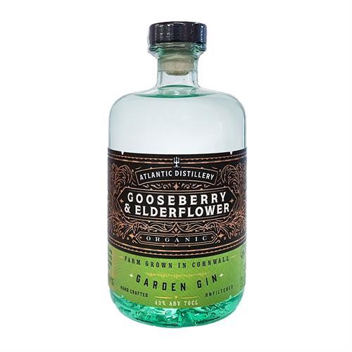 Atlantic Distillery Gooseberry & Elderflower Cornish Gin 70cl Image 1