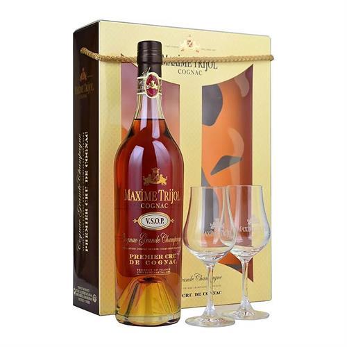 Maxime Trijol VSOP Grande Champagne Cognac Glass Pack 70cl Image 1