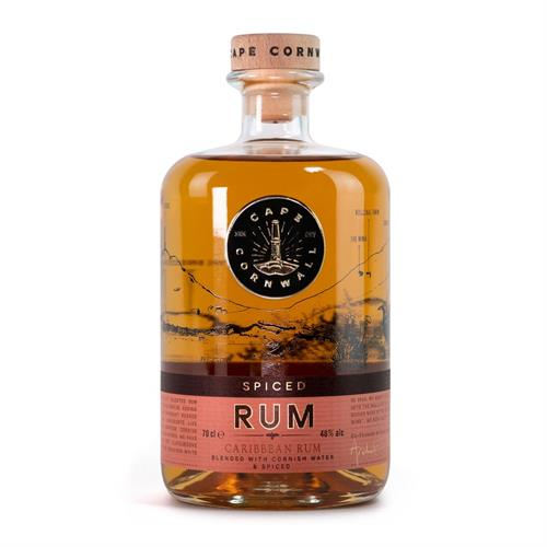 Cape Cornwall Spiced Rum 70cl Image 1
