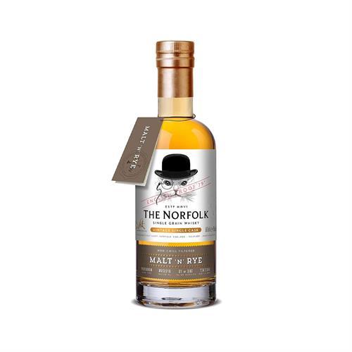 The English Whisky Company The Norfolk Malt n Rye Single Grain Whisky 50cl Image 1