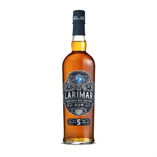 Ron Larimar 5 Year Old Peated Single Malt Cask Finish Dark Rum 70cl Image 1