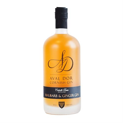 Aval Dor Cornish Rhubarb & Ginger Gin 70cl Image 1