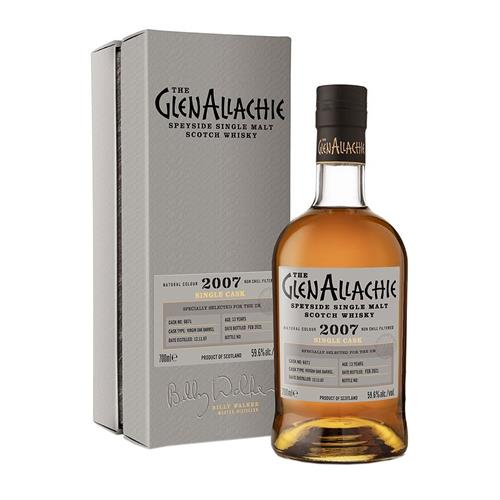 GlenAllachie 2007 Cask No. 6871 13 Year Old 59.6% 70cl Image 1