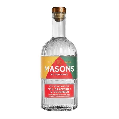 Masons Pink Grapefruit & Cucumber Gin 70cl Image 1