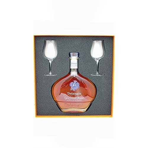 Delamain Extra Cognac With Glasses 40% 70cl Image 1