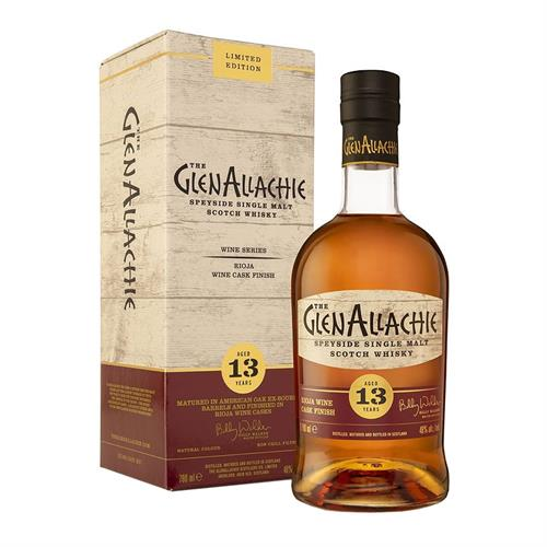 GlenAllachie 13 Year Old Rioja Wine Cask Finish 70cl Image 1