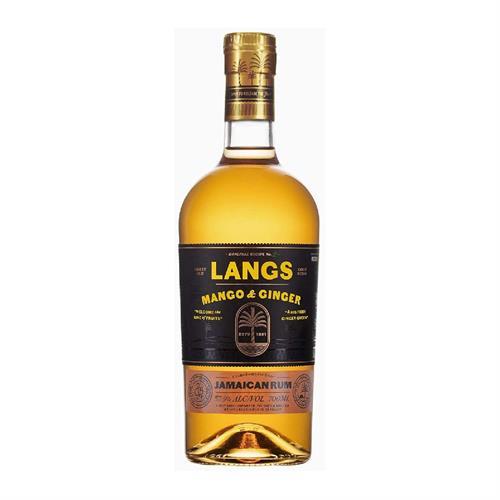 Langs Mango & Ginger Rum 70cl Image 1