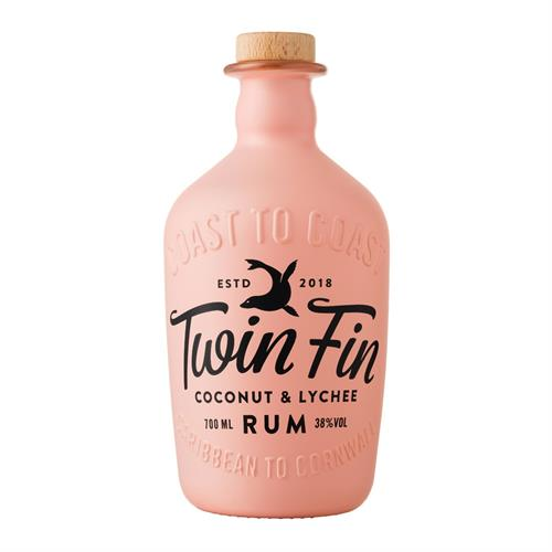 Twin Fin Coconut & Lychee Rum 70cl Image 1