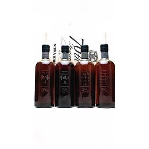 Nikka 70th Anniversary Box Set 4x70cl Image 1
