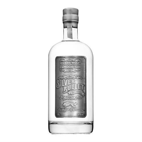 Wicked Wolf Silver Bullet Gin Navy Strength 57% 70cl Image 1