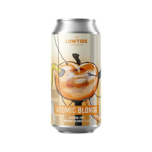 Lowtide Brewing Co Atomic Blonde Alcohol Free Apricot Blonde 440ml Image 1