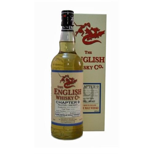 The English Whisky Co Chapter 9 Peated Whisky 46% 70cl Image 1