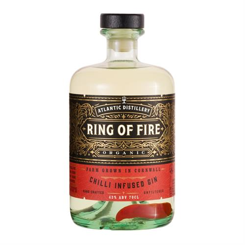 Atlantic Distillery Ring Of Fire Chilli Gin 43% 70cl Image 1