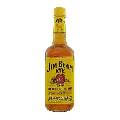Jim Beam Straight Rye Whiskey 40% 75cl Image 1