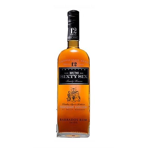 Rum Sixty Six Family Reserve Foursquare Distillery 40% 70cl Image 1
