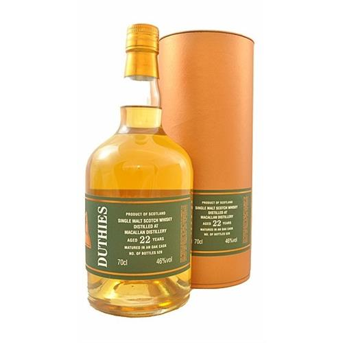 Duthies Macallan 22 years old 46% 70cl Image 1