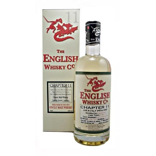 The English Whisky Company Chapter 11 Heavily Peated 46% 70cl Image 1