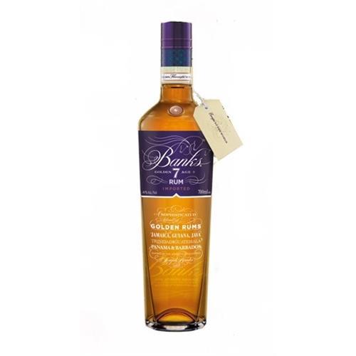 Banks Golden 7 aged Rum 43% 70cl Image 1