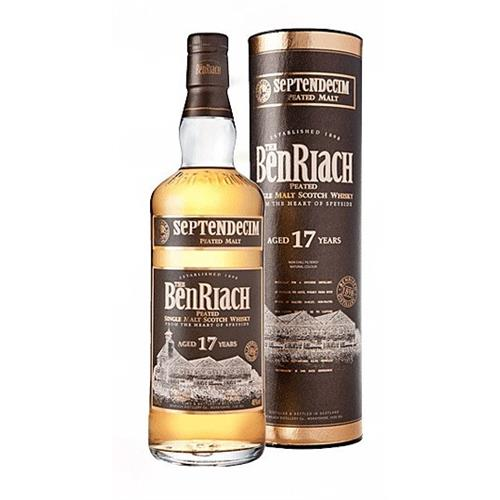 Benriach 17 years old Septendecim Peated Malt 46% 70cl Image 1