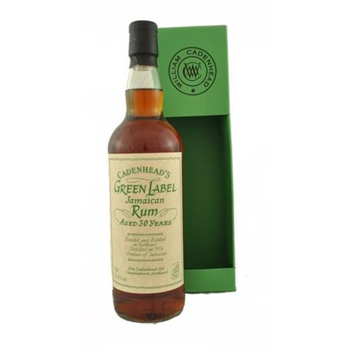Green Label Jamaican 30 years old Rum Cadenheads 51.8% 70cl Image 1