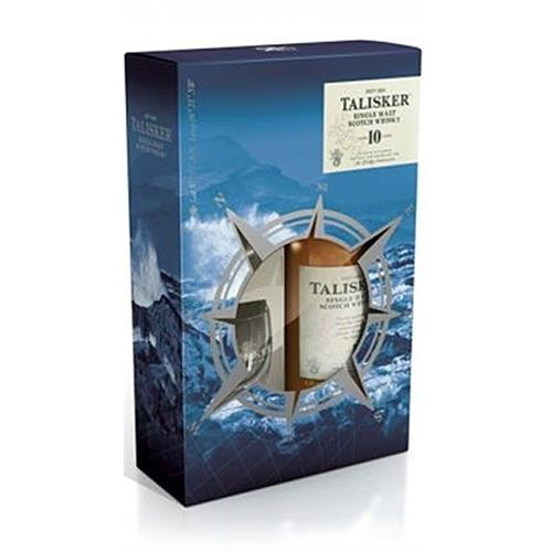 Talisker 10 year old Gift Pack 45.8% 2 Glasses Image 1