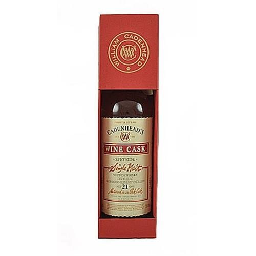 Glen Moray Glenlivet 21 years old Claret Cadenhead 55.4% 70cl Image 1