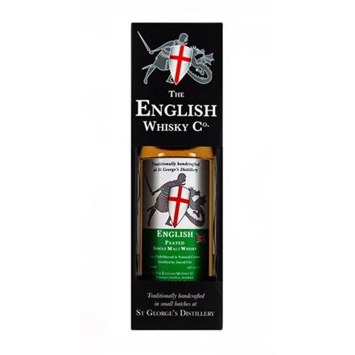 English Whisky Co. Peated Whisky St Georges Distillery 43% 70cl Image 1