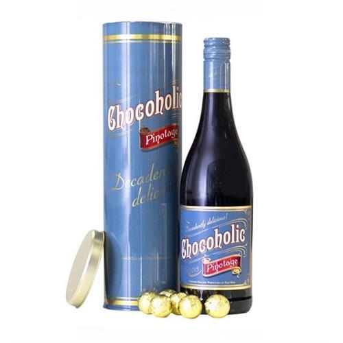 Chocoholic Pinotage Tin With Chocolate Truffles 14.5% 75cl Image 1