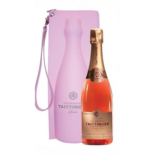 Taittinger Prestige Rose Brut Pink Cool Bag 12% 75cl Image 1