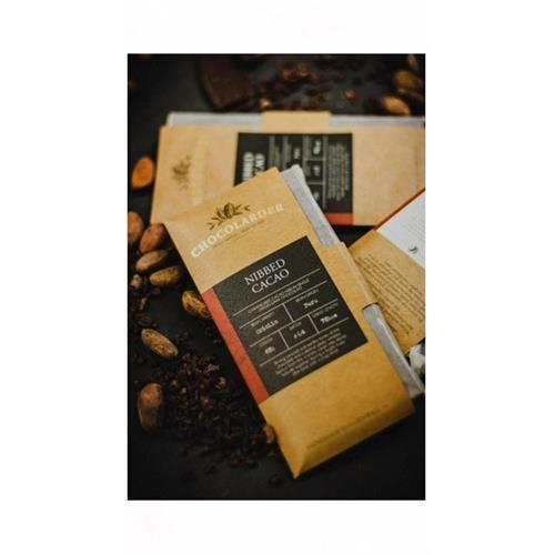 Caramalised Nibbed Cacao Chocolate 65% Chocolarder 70g Image 1