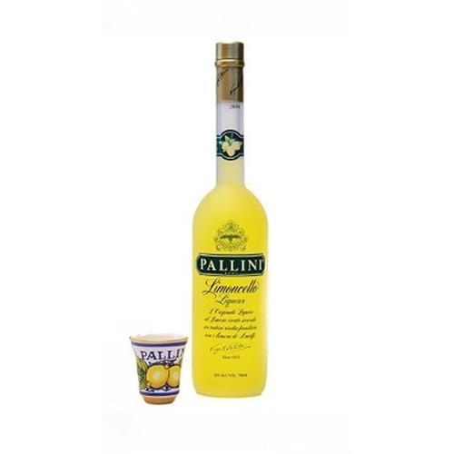 Pallini Limoncello Deruta Cup Pack 26% 50cl Image 1