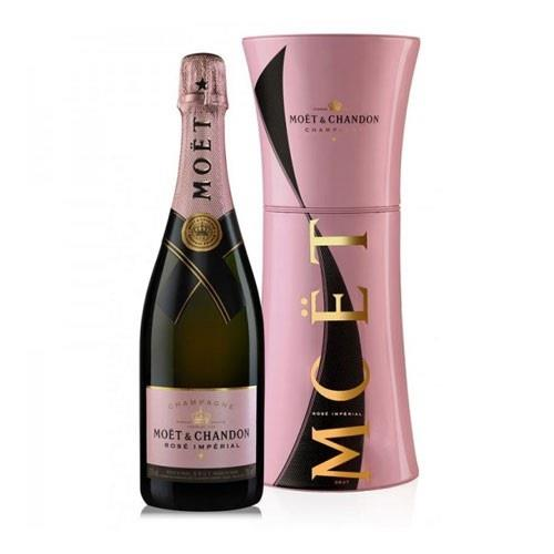 Moet & Chandon Rose Imperial Champagne Metal Gift Box 12% 75cl Image 1