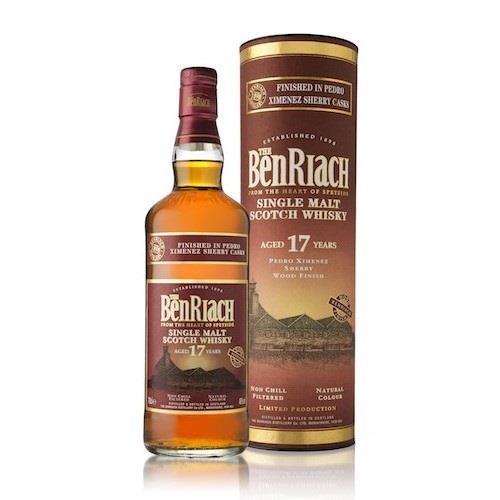 Benriach Single Malt 17 Year Old Perdro Ximenez Wood Finish 46% 70cl Image 1