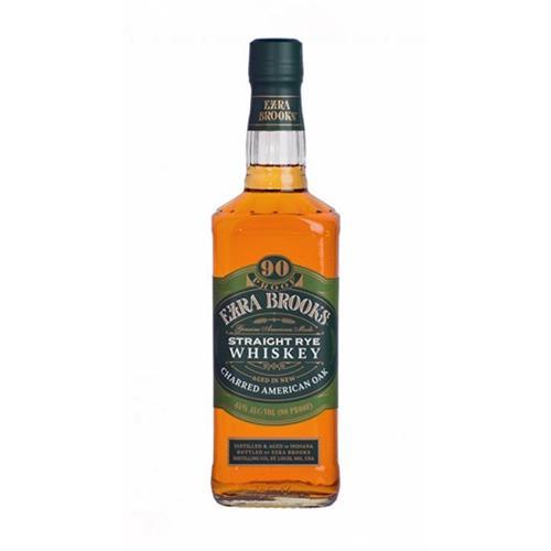 Ezra Brooks Staight Rye Whiskey 45% 70cl Image 1